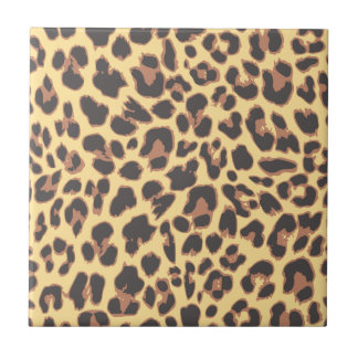 Leopard Print Animal Skin Patterns Tile