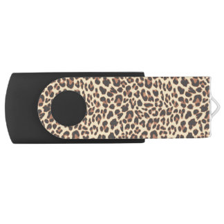 Leopard Print Animal Skin Patterns USB Flash Drive