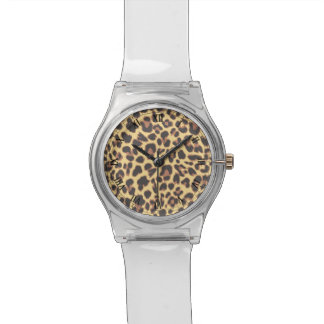 Leopard Print Animal Skin Patterns Wristwatch