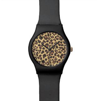Leopard Print Animal Skin Patterns Wristwatches