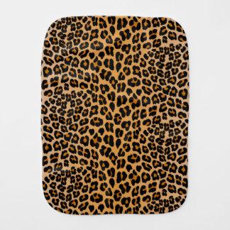 Leopard print baby burp cloths
