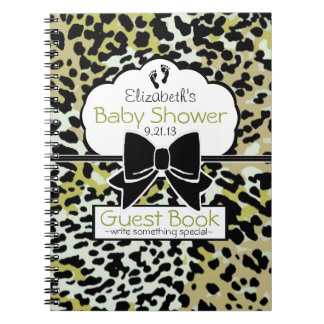 Leopard Print Baby Shower Guest Book- Notebooks