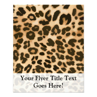 Leopard Print Background 11.5 Cm X 14 Cm Flyer