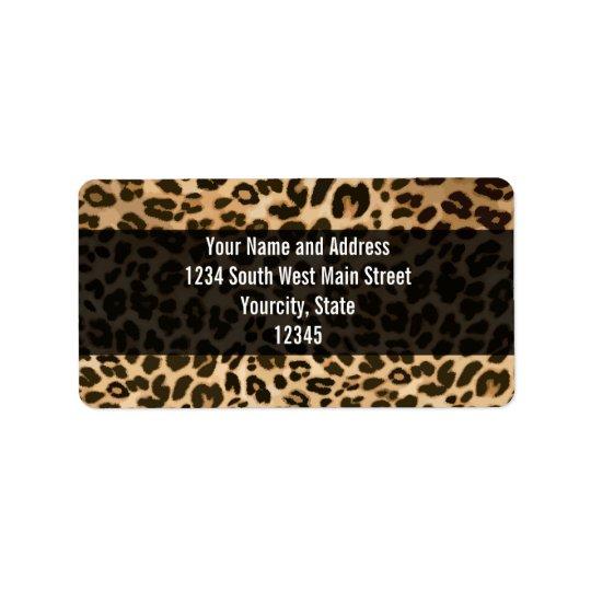 Leopard Print Background Address Label