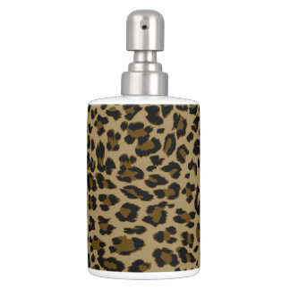 Leopard Print Bath Accessory Set