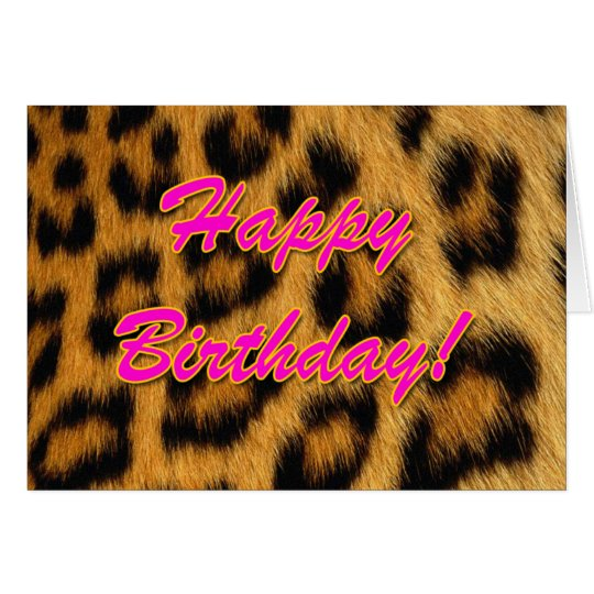 Leopard Print Birthday Card – Leopard Print Birthday Card