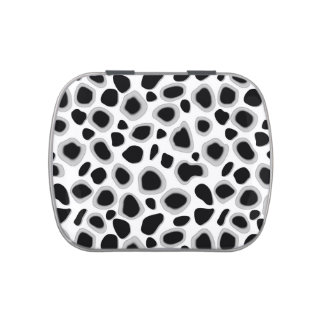 Leopard Print - Black and White Jelly Belly Tin