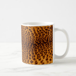 Leopard print black spotted Skin Texture Template Coffee Mug