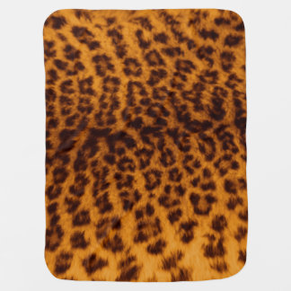 Leopard print black spotted Skin Texture Template Swaddle Blankets