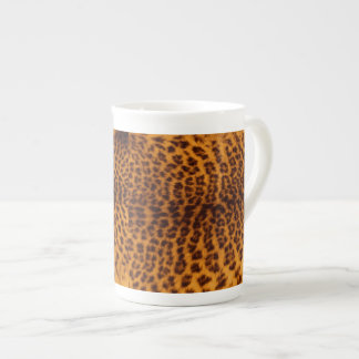 Leopard print black spotted Skin Texture Template Tea Cup