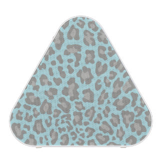 Leopard Print Blue and Gray Speaker