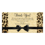 Leopard Print Bow Thank You Note Cards Picture Card