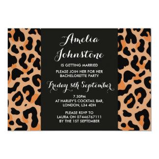 Leopard Print Bridal Shower Invitation