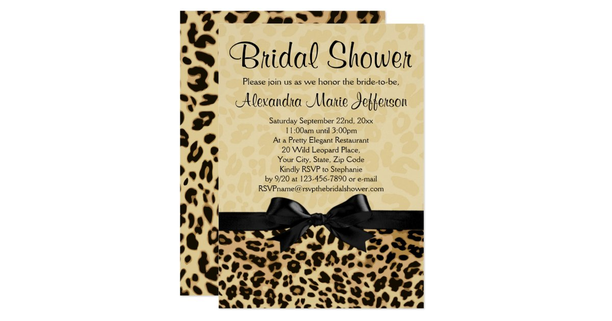 Leopard print wedding shower invitations 28 images custom bridal shower invitation zazzle leopard filmwisefo