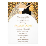 Leopard Print Bride and Groom Wedding Shower Personalised Announcements