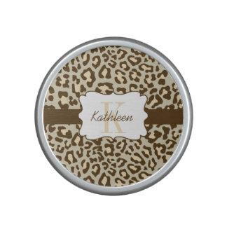 Leopard Print Brown Tan Peach Bumpster Speaker