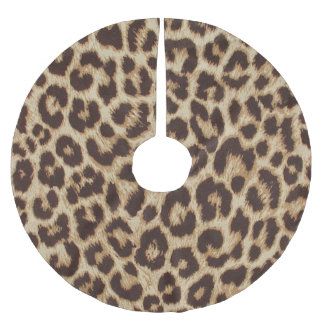 Leopard Print Brushed Polyester Tree Skirt