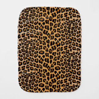 Leopard print burp cloth