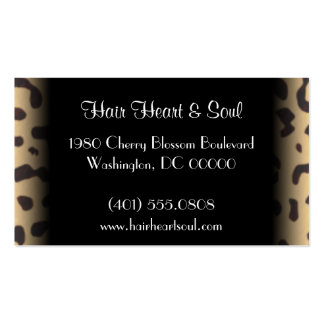 leopard print business card templates