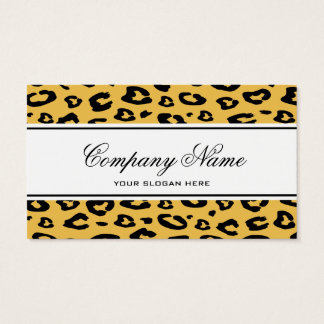 Leopard print business card template