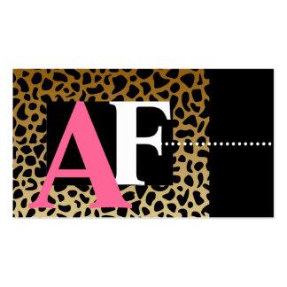 Leopard Print Business Cards