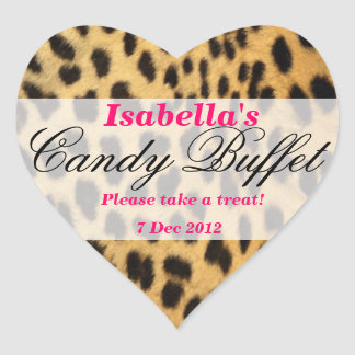 Leopard Print Candy Buffet Sticker