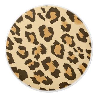 Leopard Print Ceramic Drawer Knob