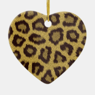 Leopard Print Ceramic Ornament
