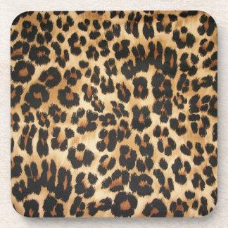 Leopard Print Coaster Set