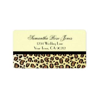 Leopard Print Custom Address Label