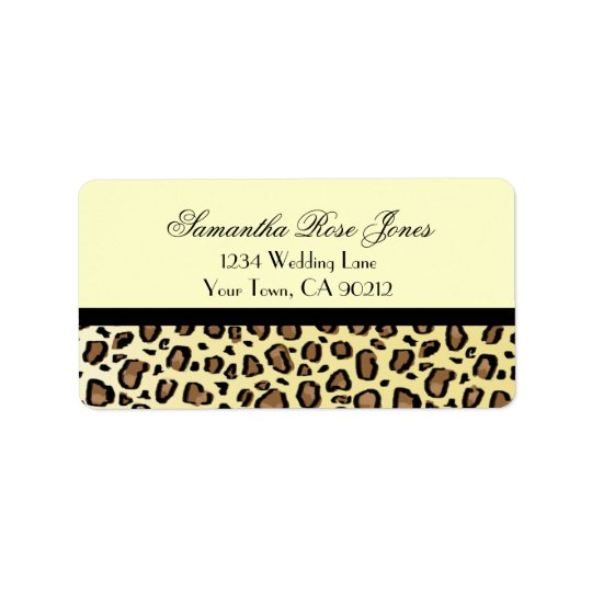 Leopard Print Custom Address Label