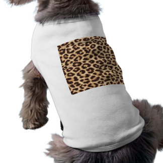 Leopard Print Doggie Ribbed Tank Tee Sleeveless Dog Shirt