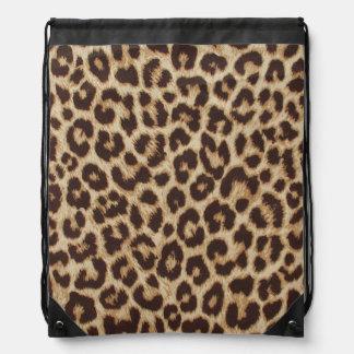 Leopard Print Drawstring Backpack