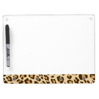 Leopard Print Dry Erase Board
