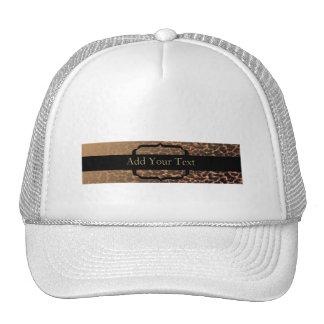 Leopard Print Elegance Hats