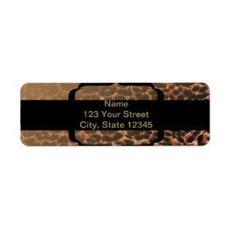 Leopard Print Elegance Return Address Label