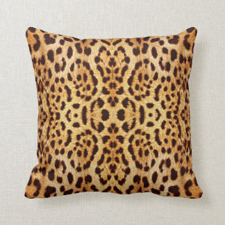 Leopard print elegant fur cushion
