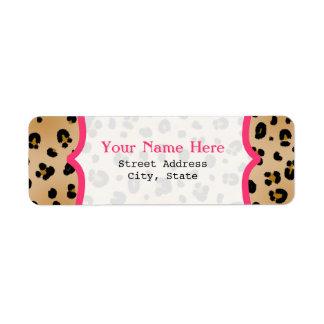 Leopard Print  Fancy Return Address Label