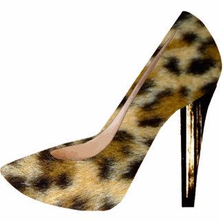 Leopard Print Fashion Shoe 3D Acrylic Ornament Photo Sculpture Decoration