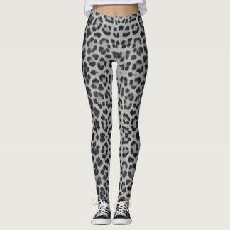 Leopard Print Gray Pattern Ladies Leggings
