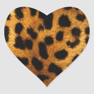 leopard-print heart sticker