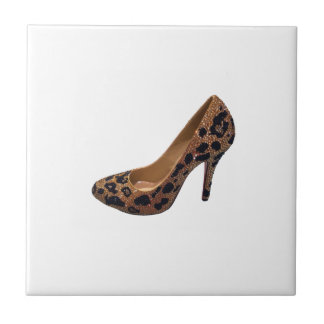 Leopard Print High Heel Shoe Pump Tile