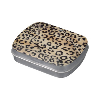 Leopard Print  Jelly Belly™ Brand Tin Candy Tin