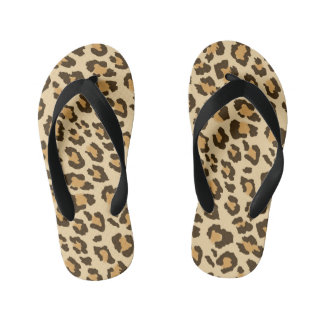 Leopard Print Kid's Thongs