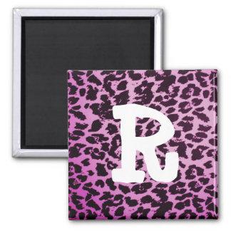 Leopard Print Letter Magnet