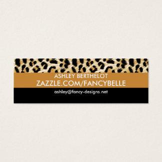 Leopard Print Mini Business Card
