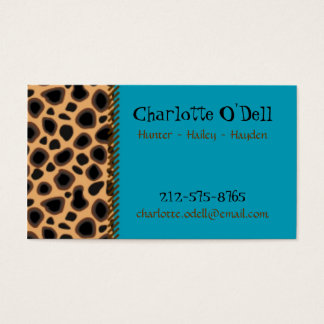 leopard print mommy card