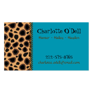 leopard print mommy card business card