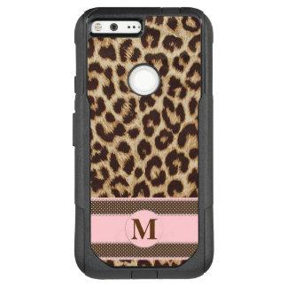 Leopard Print Monogram Google Pixel XL Phone Case