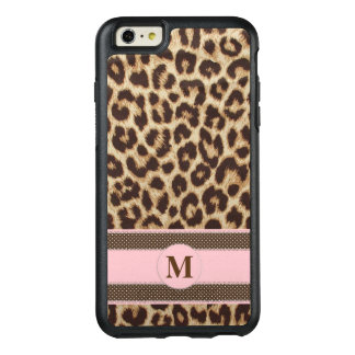 Leopard Print Monogram OtterBox iPhone 6 Plus Case